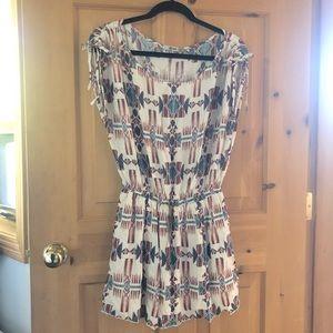 Bohemian Aztec Print Summer Mini Dress
